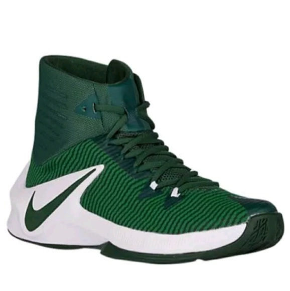 detailed look fde5e 12b04 Nike Zoom Clear Out Green White Basketball Shoes